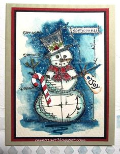 Linda Cain: SA Christmas Blueprint stamps http://cain81art.blogspot.com/2012/12/my-christmas-card-to-all-of-you.html?showComment=1355843857932#