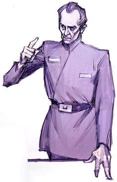 Concept art of Tarkin by Iain McCaig