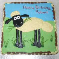 Shaun the Sheep Birthday Cake http://www.partyideasuk.co.uk/library/cakes/birthday/shaun-the-sheep-cake.aspx Possible theme for Madeline's 2nd birthday