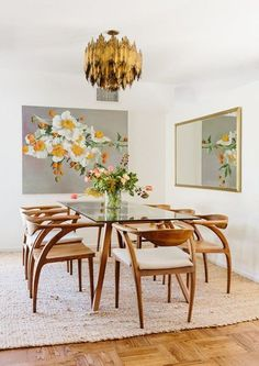 50 ideas for modern dining room furniture and decoration in the middle of the century # chairs . Dining Room Walls, Dining Room Lighting, Dining Room Design, Kitchen Lighting, Office Lighting, Bedroom Lighting, Table Lighting, Dining Decor, Decoration Inspiration
