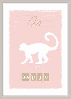 Poster A is een aapje