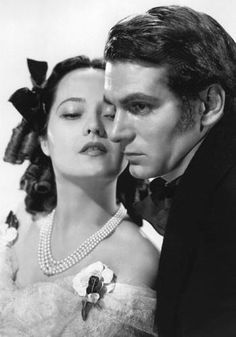 Laurence Olivier and Merle Oberon in Wuthering Heights, 1939