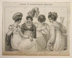Museum of London   ENGRAVING Ladies Fashionable Dresses Production Date: 1818 ID no: 2002.139/2601