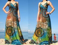 M L XL Mond Kollektion Lange Maxi Kleid Party von MyParadise auf DaWanda.com Trop belle !