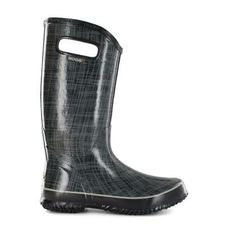 Linen look rubber boots from Bogs featuring technology that keeps smellyness and moisture from your feet at bay. Just enough of a design to keep your look fashionable but in black so they're boots that can go with just about anything. You can find these Bogs and other styles here at Canada's online mall ... http://www.onlineshoppingmallcanada.ca/apparel-clothing/shoes/womens-shoes/women-s-rubber-boots-shoes-bogs#.UynTeoWm0-8