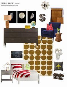 boys room- design plan, TWO ways