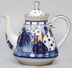 Old Domes Russian Teapot. I have this shape Russian teapot but with a different pattern on it. dm