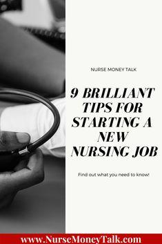 9 Brilliant Tips for Starting a New Nursing Job - Nurse Money Talk Nursing Leadership, Nursing Career, Tops Diy, New Grad Nurse, Nursing Resume Template, School Survival Kits, Accelerated Nursing Programs, Teacher Certification, Nursing Degree