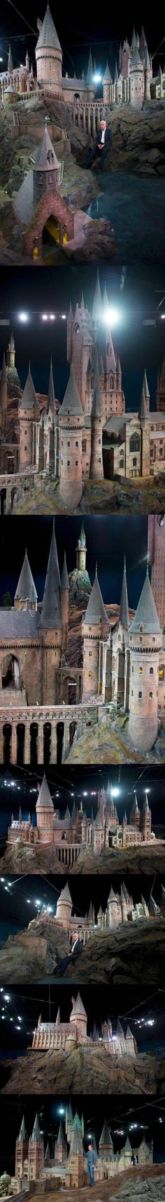 Incredible look at the real Hogwarts Castle in England at Warner Brothers Studio Tour London.