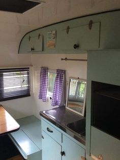 Vintage Caravan Interiors, Kitchen Cabinets, Home Appliances, Home Decor, Kitchen Cupboards, House Appliances, Homemade Home Decor, Appliances, Decoration Home