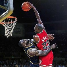Michael Jordan has 3 more rings 3 more final mvps 1 more DPOY 1 more season MVP 9 more scoring titles 3 more steals leader 3 more all defensive team selections 4000 more points 800 more steals Beat 20 50 win teams in the playoffs (Lebron only defeated 10) Jordan never averaged less than 40% Field Goal in the finals  Lebron did it twice 6/6 (never allowed a game 7) Lebron had much more help Jordan never had a teammate averaged more than 22 points in the finals.. Kyrie averaged over 28 and…