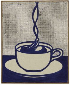 "loverofbeauty: "" Roy Lichtenstein: Cup of Coffee (1961) """