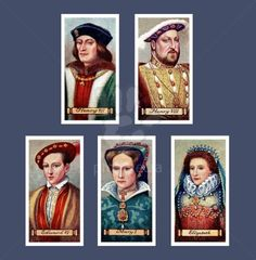 Carreras Kings and Queens of England Series Cigarette Cards 1935