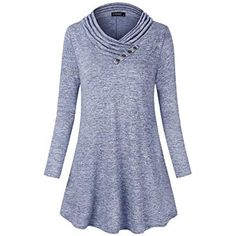 Enjoy exclusive for FANSIC Women's Cowl Neck Long Sleeve Button Decor Knitted Lightweight Sweatshirts Casual Tunic Top Blouses online - Findanew Tunic Blouse, Tunic Tops, Blouse Online, Junior Dresses, Cowl Neck, Blouses, Tunics, Promotion Code, Sweatshirts