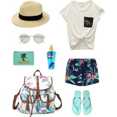 #summer_time by dnatali on Polyvore featuring мода, Wet Seal, Charlotte Russe and River Island