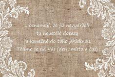 Inspirace - text a citáty do svatebního oznámení - Album uživatelky ladyg001 | Beremese.cz