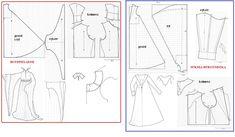 wykrój Houppelande i sukni Burgundzkiej