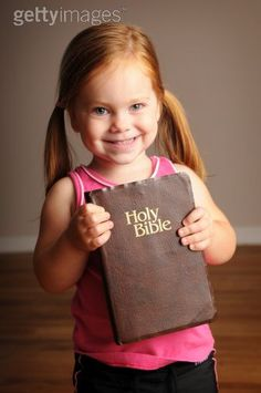 little girl and the Bible