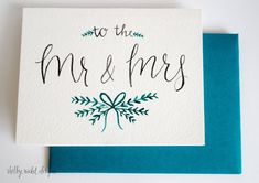 Hey, I found this really awesome Etsy listing at https://www.etsy.com/listing/235065408/mr-mrs-wedding-card-wedding
