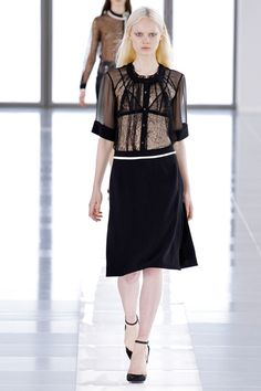 Preen fall '2013 I'm not so into the whole look here but I do like how the skin print looks tattooed onto her torso.