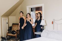 Be sure to get a shot of the reaction of your bridesmaid. It's as priceless image that you'll cherish forever.  Matt Lien Photography // Acowsay Cinema