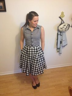 The blouse and skirt together!