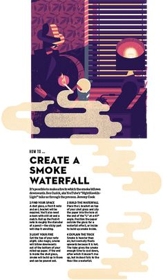 Wired Smoke Waterfall - Owen Davey Illustration