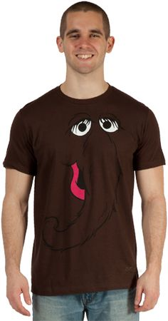 Make your torso look just like Aloysius Snuffleupagus, a.k.a. Snuffy with this officially licensed Snuffy costume shirt.