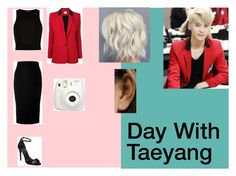 day with taeyang by izzcampbell on Polyvore featuring River Island, Magda Butrym, Victoria Beckham, Alexander Wang, Fujifilm, kpop and taeyang