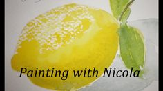 HALF PRICE watercolour painting course for beginners. Paint this lemon Lemon Painting, Watercolour Painting, Watercolors, Jason Bowen, Avocado Uses, Watercolour Tutorials, Watercolor Ideas, Painting Courses, Art For Art Sake