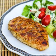 3/28 ~ Grilled Chicken using Newman's Own Olive Oil & Vingar with a packet of Italian dressing mix