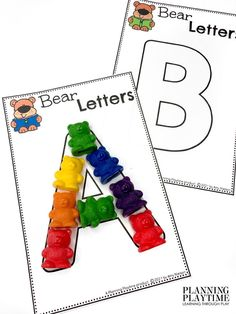 Practice Letter Formation & Tracing Skills. - Morning Tubs: Bears