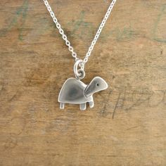 Little Turtle Necklace by marmar on Etsy, $25.00