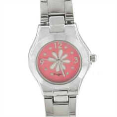 Watches - womens pink flower watch Image.