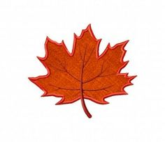 06aa89fbc6c Autumn Maple Leaf Includes Both Applique and Stitched