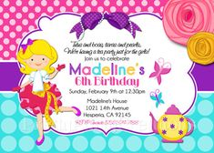 FANCY GIRL TEA Party invitation  You Print by PrettyPartyCreations, $11.50