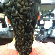 Basket weave braid Basket Weave Braid, Hair Due, Cat Hair, Braided Hairstyles, Hue, Curls, Braids, Hair Beauty, Dreadlocks