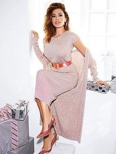 c959dbc0623 Eva Mendes Collection - Gina Metallic Sweater - New York   Company Eva  Mendes Collection