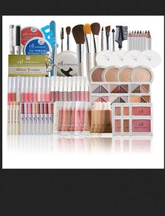 elf make up products --- i love the elf products that I have. Cheap but goes on nice Makeup Dupes, Makeup Brands, All Things Beauty, Beauty Make Up, Elf Products, Makeup Products, Beauty Products, Makeup Items, Beauty Secrets