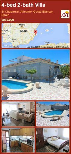 4-bed 2-bath Villa in El Chaparral, Alicante (Costa Blanca), Spain ►€265,000 #PropertyForSaleInSpain