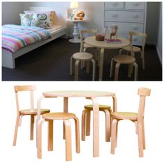 Mocka's Kids Wooden Table and Chairs Set makes it easy and comfortable for your kids to sit and play.