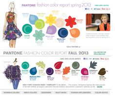 Pantone 2013 Spring and Fall Color Palettes