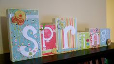 Inspiring Creations: Spring Blocks with Tutorial