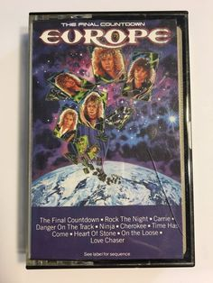 Europe The Final Countdown Cassette Tape Epic 1986  | eBay