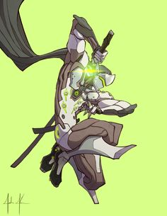 HERE!! HAVE SOME LATE NIGHT GENJI ART!!!!!!! BE A LEGEND!!!