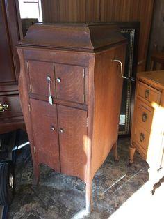 Beautiful tall Victrola- $275 #antique #furniture #music #Victrola #forsale #design #home #decor #mk #designer #mkconsignment