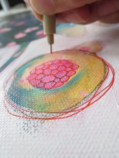 How to paint Flowers from imagination : Feeling Good  by SANDRINE PELISSIER on ARTiful, painting demos