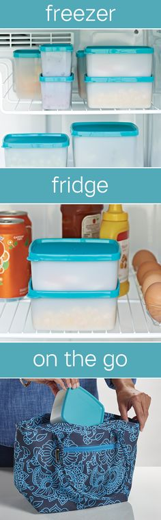 Freeze-It™ Container. Versatile containers for fridge, freezer and on the go. Specifically designed for fast freezing to retain food's texture, nutrients and taste. Seals eliminate spillage when on the go. #NationalFrozenFoodMonth