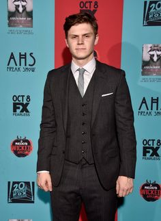 Pin for Later: Glee Stars Glam Up With the American Horror Story Cast For Freak Show's Premiere Evan Peters