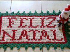 "Elaine Artesanatos: TAPETE ""FELIZ NATAL"""